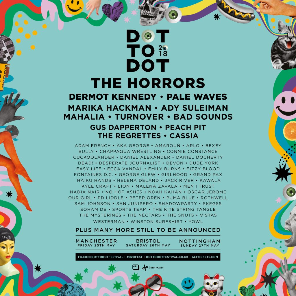 Ady Suleiman, Peach Pit + more added to Dot to Dot 2018 1